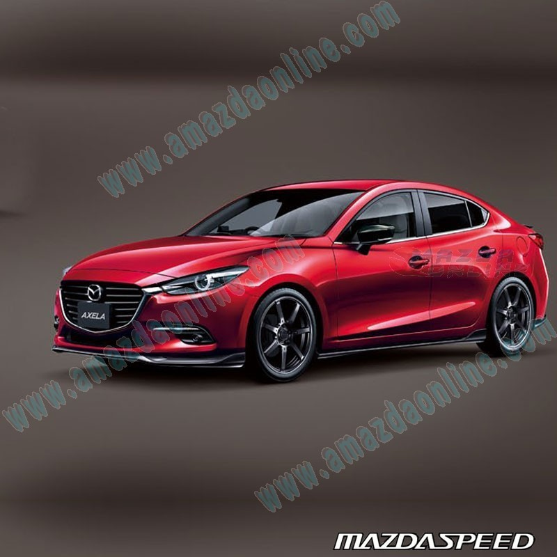 Mazda 3 Mazdaspeed For Sale: MazdaSpeed Side Skirt Extension Splitters For 2017+ Mazda3